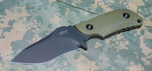 "Zero Tolerance Model 0121 Fixed 4-1/4"" S30V Steel Blade, Ranger Green G10 Handles"