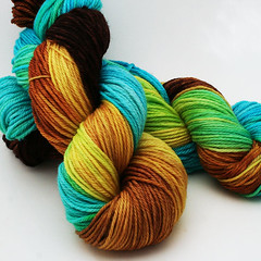Tropical Banana Worsted SW Merino Yarn
