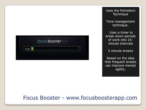 Blogging Tools - Focus Booster