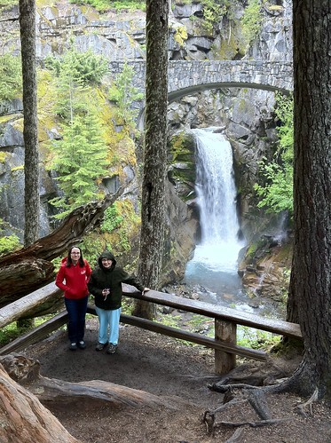 Emily and Christine at Christine Falls