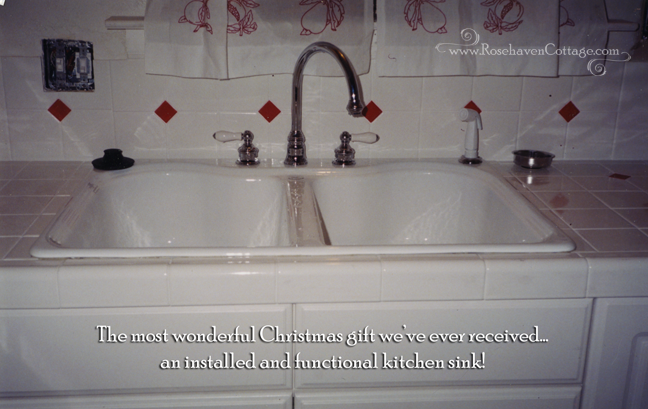 The most wonderful Christmas gift we've ever received... a kitchen sink!