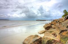 Saint Simons Island (Danielle A. Davey) Tags: summer vacation storm beach canon pier july hdr xsi saintsimonsisland photomatix