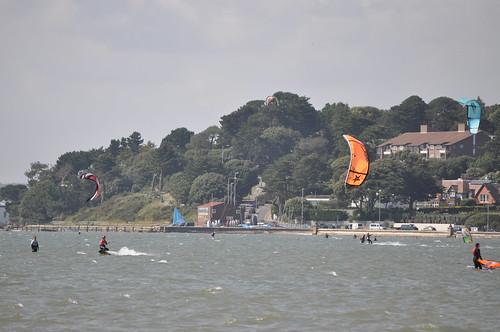 Mel's kite surfing!