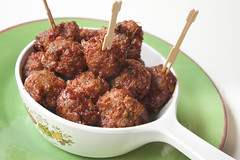 Pomegranate BBQ Meatballs