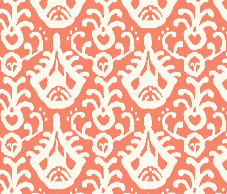 Coral Ikat Domesticate at Spoonflower