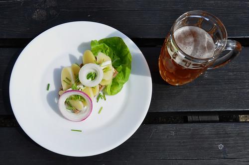 Kartoffelmad og øl