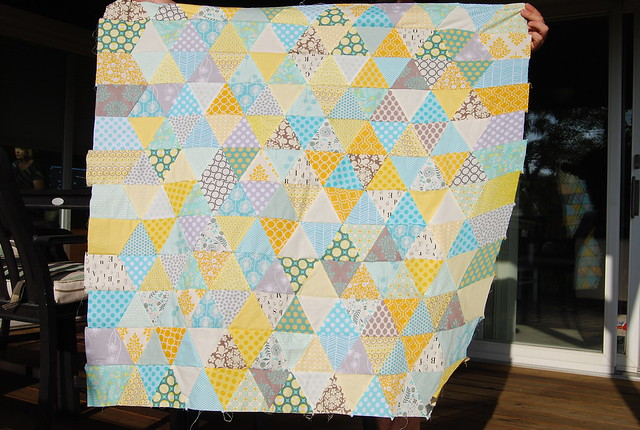 "Baby's ""hospital"" quilt top"