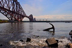 Forth Bridge (willsinc) Tags: uk bridge sea water river scotland boat edinburgh ship rail forth shore anchor forthbridge railbridge willsinc