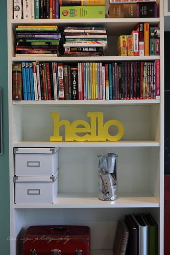 left side bookcase