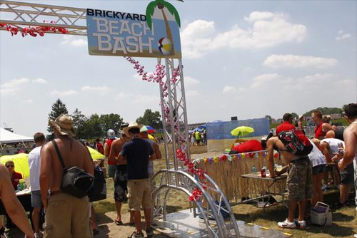 Fans enjoying the Brickyard Beach Bash