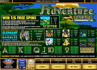 Adventure Palace Slots Payout