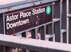 Downtown 6 train (minnepixel) Tags: nyc newyorkcity travel 6 eastvillage green train canon subway downtown village publictransportation 4 entrance dailycommute transportation cooper commute mta astorplace g11 canonpowershotg11