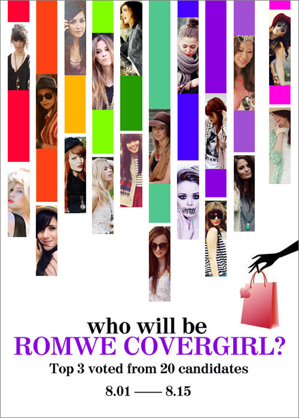 The contest of Romwe cover girl