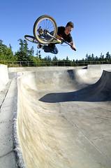 Chris Eimen (Dave Kellman) Tags: bmx northwest skatepark orcasisland tabletop orcasislandskatepark chriseimen northwestbmx