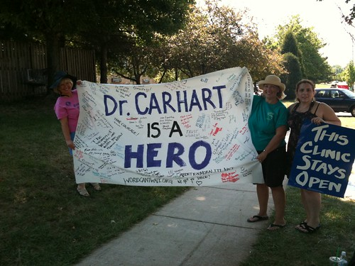 Supporting Dr. Carhart in Germantown
