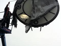 Rhodes Hall's new clock