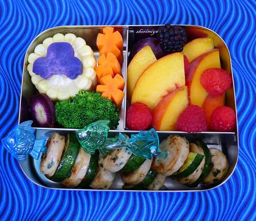 Sausage Zucchini Skewers Bento by sherimiya ♥