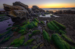 End of the Block (Silent G Photography) Tags: california ca longexposure sunset beach photography coast moss rocks pacific bracket wideangle pismobeach hdr highdynamicrange shellbeach markgvazdinskas silentgphotography