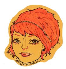 Summer- Cardstock hand drawn sticker!