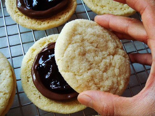 Chewy Sugar Cookie Sandwich with Black Forest Filling