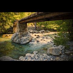 Happy Little Flow (Allard One) Tags: longexposure bridge sunlight france nature water creek river french landscape flow spring bomen nikon stream corte tripod corsica may 11 le f22 frankrijk 24mm mei brug fullframe cinematic lente eclectic squarecrop borders streaming harsh bold gettyimages francais contrasty monterotondo upthecreek rivier streamingmedia vierkant 2011 underabridge filmisch restonica beautyinnature restonicavalley centralcorsica waterflowing nikcolorefexpro lacorse tavignano lacdemelo d700 hautecorse nikond700 nikkor2470mmf28 rotsblokken nikonfx allardone allard1 duohardstrak allardspecialblend bobrosscountry allardschagercom