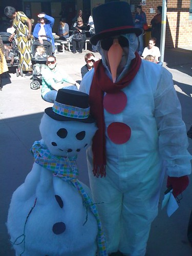 Snow people at Pedlars' Fair 2011