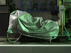 covered by night (Samm Bennett) Tags: japan night tokyo wrapped covered shrouded mejiro draped