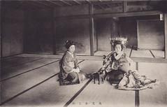 Tayuu with a sake cup (noel43) Tags: japan japanese district prostitute prostitution redlight pleasure meiji courtesan quaters yoshiwara shimabara oiran tayu tayuu kamuro