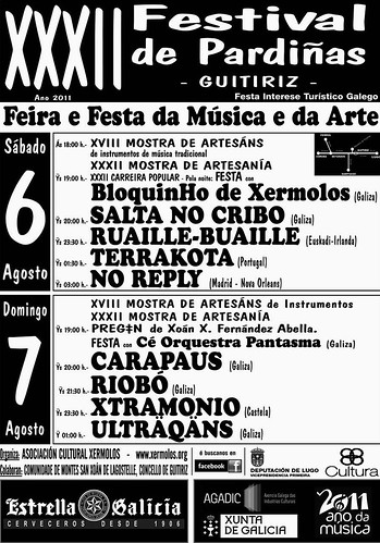Guitiriz 2011 - Festival de Pardiñas - programa