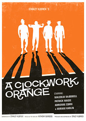 Clockwork Orange poster (h4ndz) Tags: art illustration vintage print poster movieposter clockworkorange filmposter stanleykubrick modernist midcenturymodern