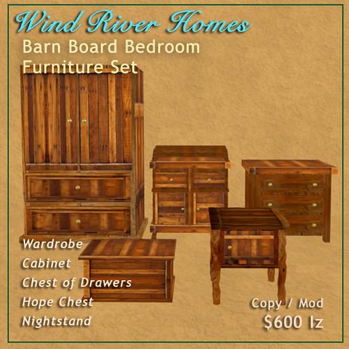 Barn Board Bedroom Furniture Set