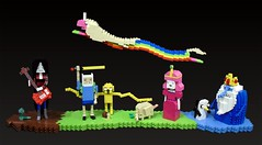 """Adventure Time"" diorama for BrickCon 2011 (Ochre Jelly) Tags: jake lego princess bubblegum finn treetrunks moc afol marceline adventuretime brickcon rainicorn"