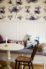 Nice style (-Camilla) Tags: blue wallpaper white lightbulb vintage chair candle furniture squares interior room country pillow sofa shabbychic nikkor50mm18 nikond80