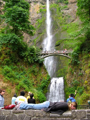 Planking at Multnomah Falls