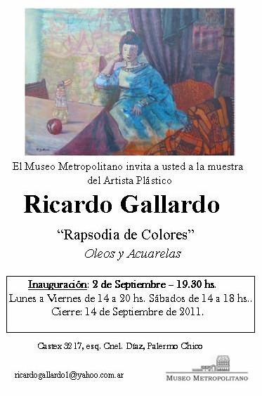 Rapsodia de Colores- Muestra plástica de Ricardo Gallardo