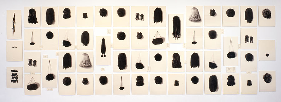 Wigs II 1996 - 2006, Lorna Simpson Studio website