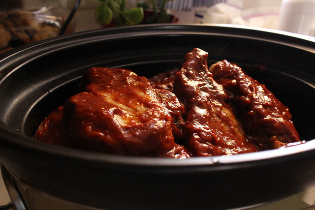 Honey Chipotle Slow Cooker Ribs