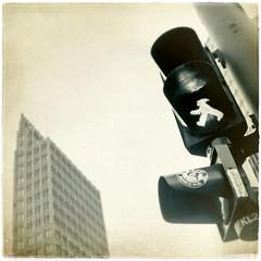 Berlin (una cierta mirada) Tags: city light urban 6 trafficlights building berlin skyscraper germany interestingness explore semaphore mensch on ampelmann ampelmensch magicunicornverybest 20110929 6ininterestingnesson20110929 ·ampel