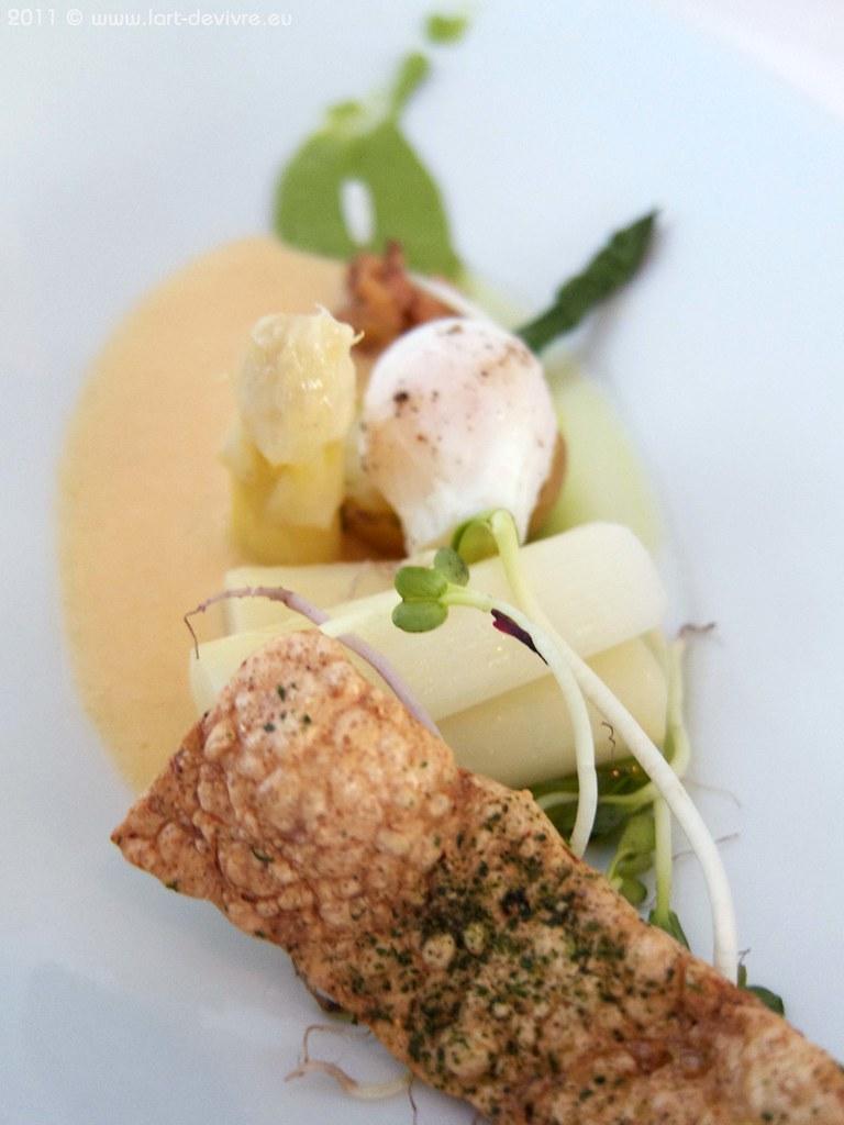 Spargel | Wachtelei | Kartoffel | Krabben