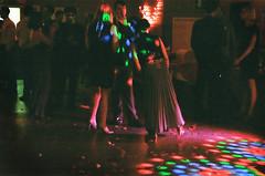 the dancefloor (cndnz91) Tags: wedding disco lights dance floor lol pentaxk1000 dancefloor kodakgold400