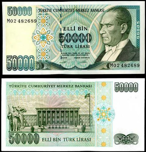 50 000 Lír Turecko 1995