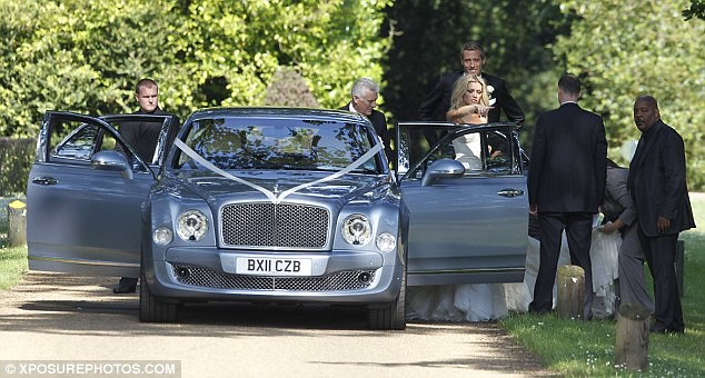 Nice day for a WAG wedding as Peter Crouch ties the knot with Abbey Clancy  9