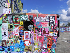 stickercombo (wojofoto) Tags: streetart amsterdam stickerart stickers combo ndsm stickercombo wojo wojopfoto