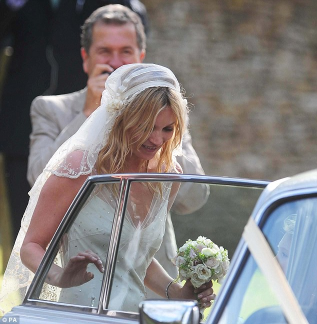 Mrs Rock Chick now! Beaming Kate Moss gets hitched to Jamie Hince with daughter Lila among the 15 bridesmaids  6