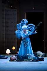 Joyce DiDonato as Cendrillon, Eglise Gutiérrez as La Fée in The Royal Opera's Cendrillon © Bill Cooper/ROH 2011