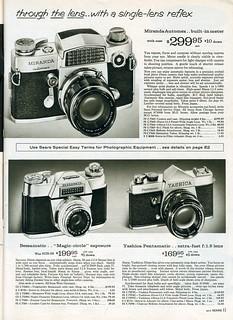 1961 Sears: Miranda Automex - Voigtlander Bessamatic - Yashica Pentamatic