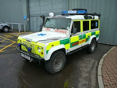 Land Rover Defender 110 County TD5 (barronr) Tags: out scotland glasgow more about secc landrover find services a scotlanda emergencyscotland2011 hartservicesscotland hrefhttpwwwhartservcoukhart