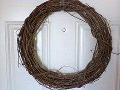 $3 Better Homes and Gardens Wreath from WalMart...