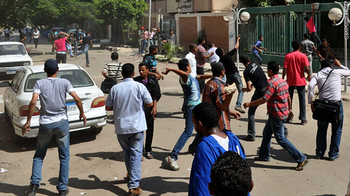 Youth attacked a police station in Cairo, Egypt after the failure to imprison officers accused of killing activists during the uprising in January and February 2011. A military coup replaced the regime of Hosni Mubarak. by Pan-African News Wire File Photos
