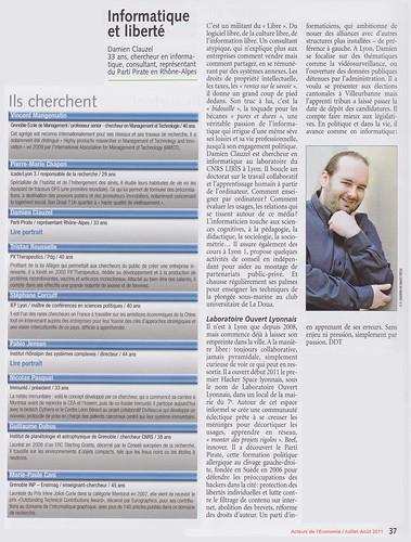 Acteurs de l'économie – n°100 – Les 100 qui feront Rhône-Alpes – Damien Clauzel